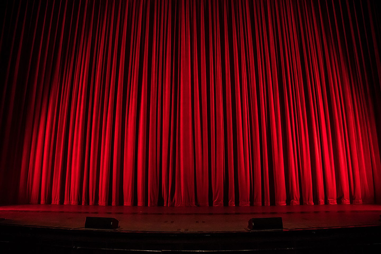 Picture of a red curtain